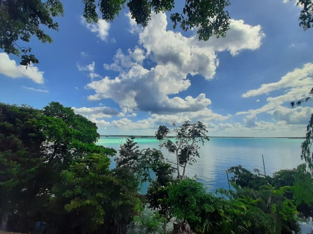 Casa maya lakefront  best view in bacalar