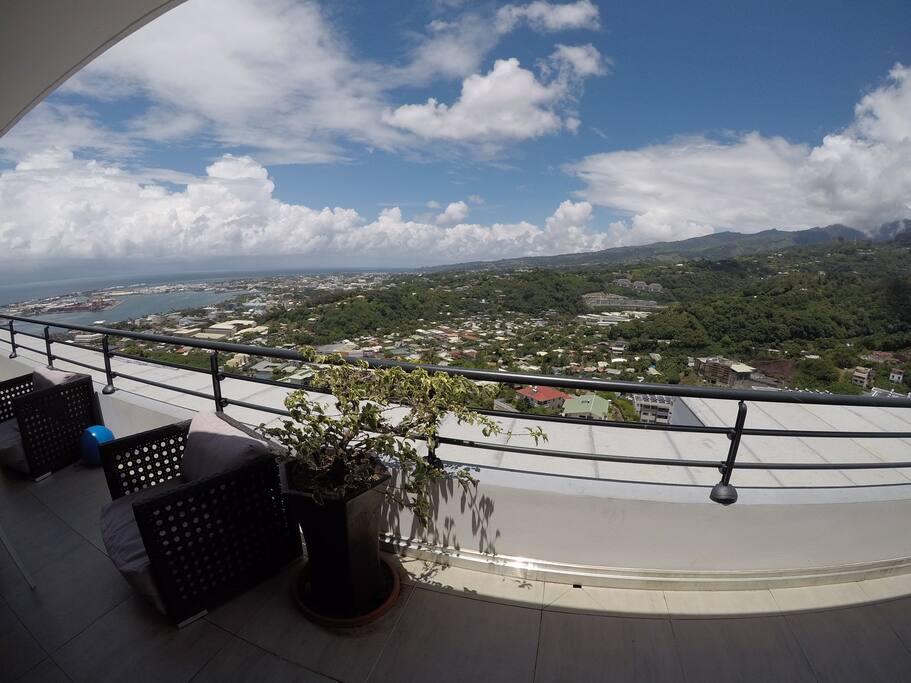 Vue sur Papeete