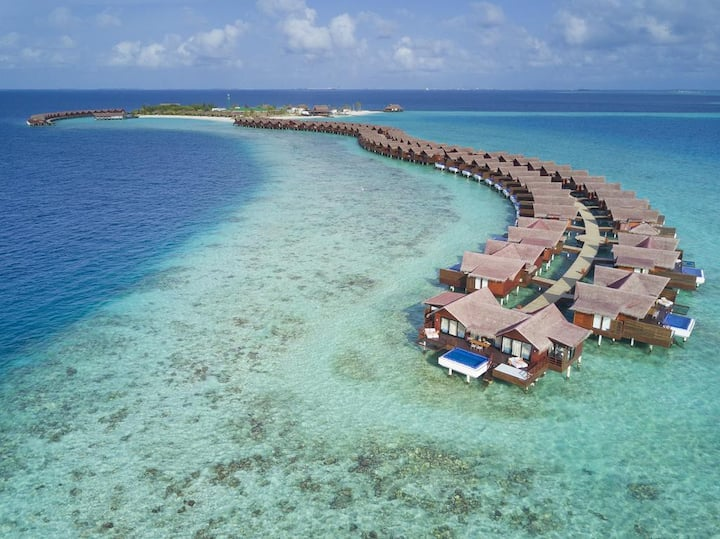 North Male Atoll deluxe lagoon water villa