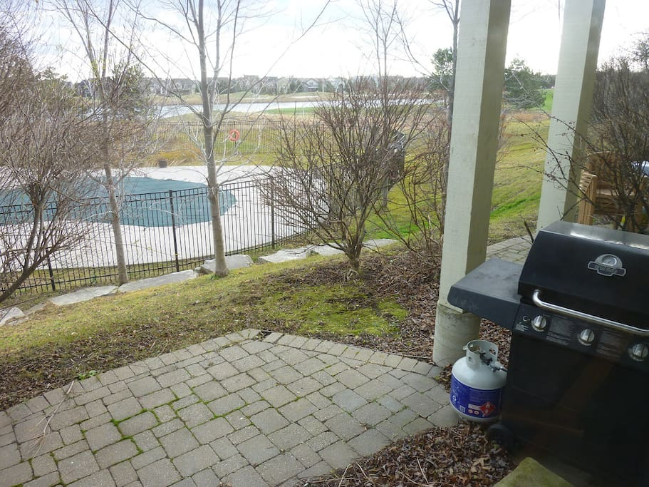 Backyard patio BBQ