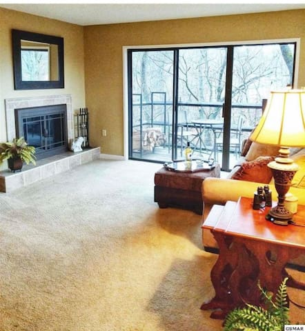 1 bedroom mountain condo with pool