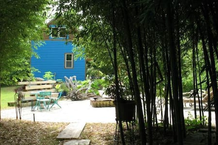 Under the Bamboo Trees: Skoolie Inspired Tinyhouse