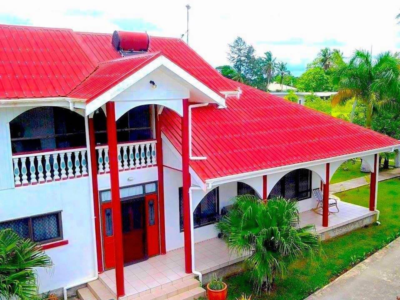 Front View of Tonga Holiday Villa