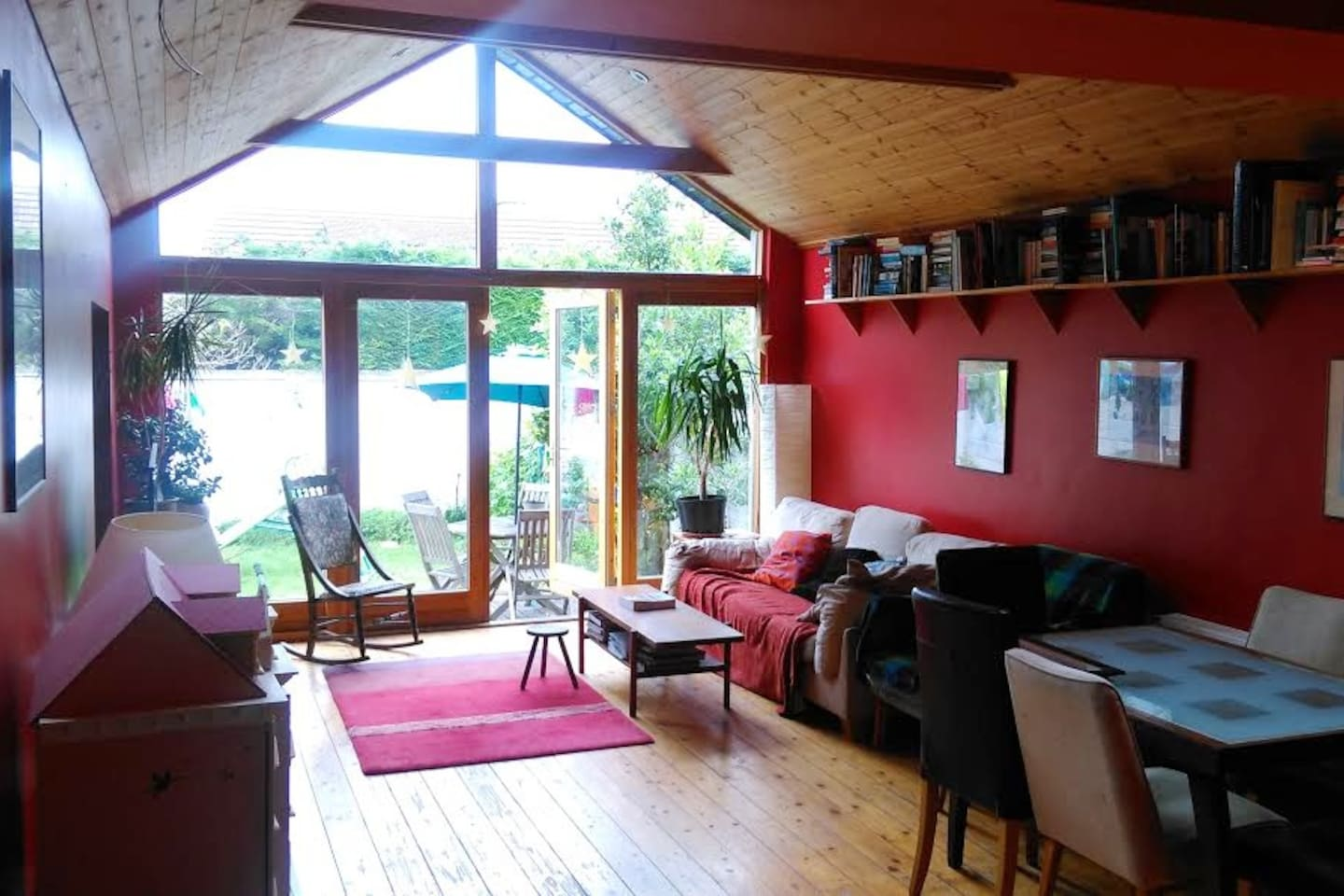 living room looking to the back garden