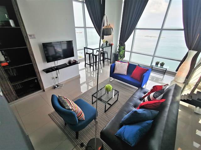 180 Degree Seaview@Maritime Penang | 槟城180°无敌全海景套房