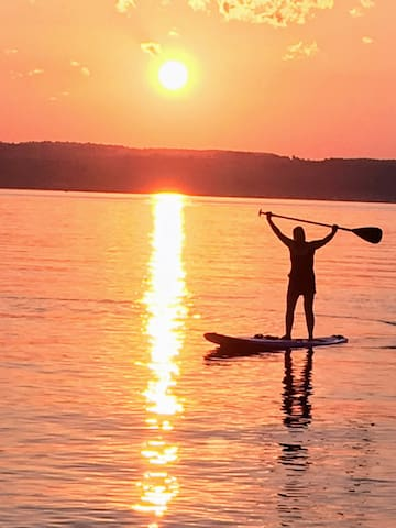 Guests enjoy  new experiences at the Spur with stand-up paddle boarding.