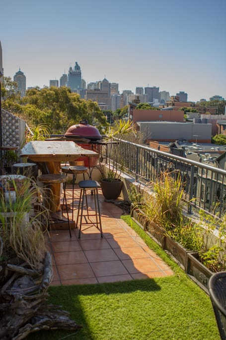 you own private rooftop beer garden to use day or night