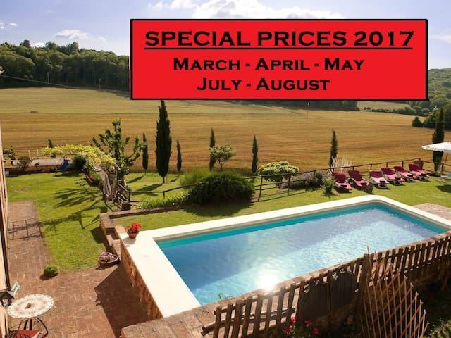 Private Tuscan Villa, pool,Hot Tub, near Siena - Sovicille - Villa