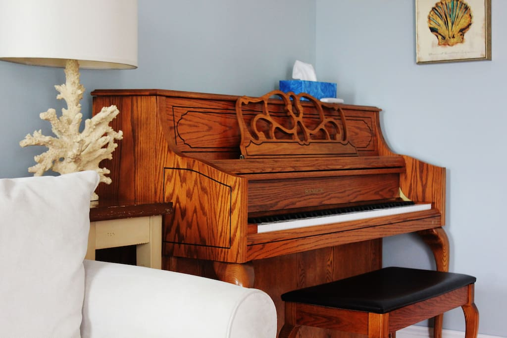 Just moved in an upright piano in the living room
