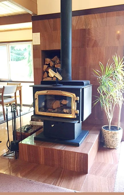 Wood Burning Stove is set and ready for your enjoyment.