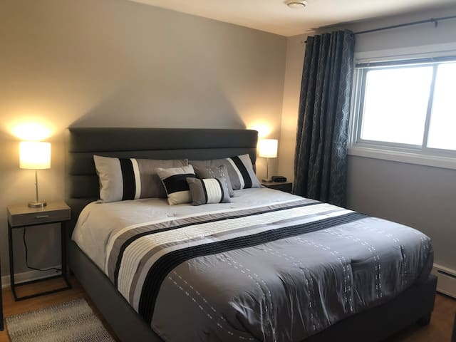 """3 luxurious bedrooms located on the second level all come complete with 50-55"""" LED 4K TV's with Netflix and ROKU, large windows and closets, dressers, alarm clocks and most some night tables come with USB ports to charge all your electronic devices"""