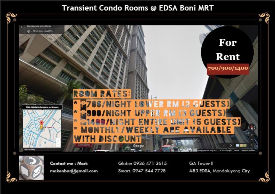 Unit & Room Rates