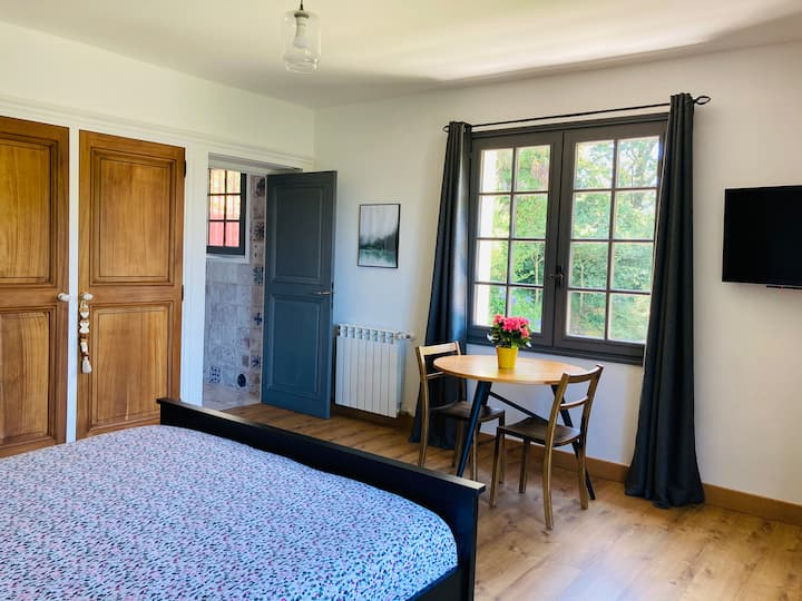 Large private room, en-suite, terrace & breakfast