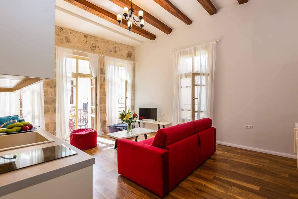 Casa Del Mare Rose suite living room