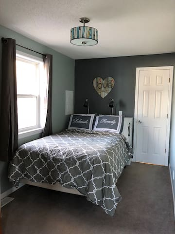 Newly renovated master bedroom