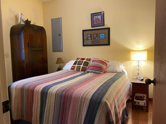 One of two lower level bedrooms.