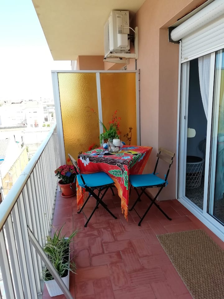 Apartment with 3 bedrooms in Calafell, with wonderful city view, furnished garden and WiFi - 500 m from the beach