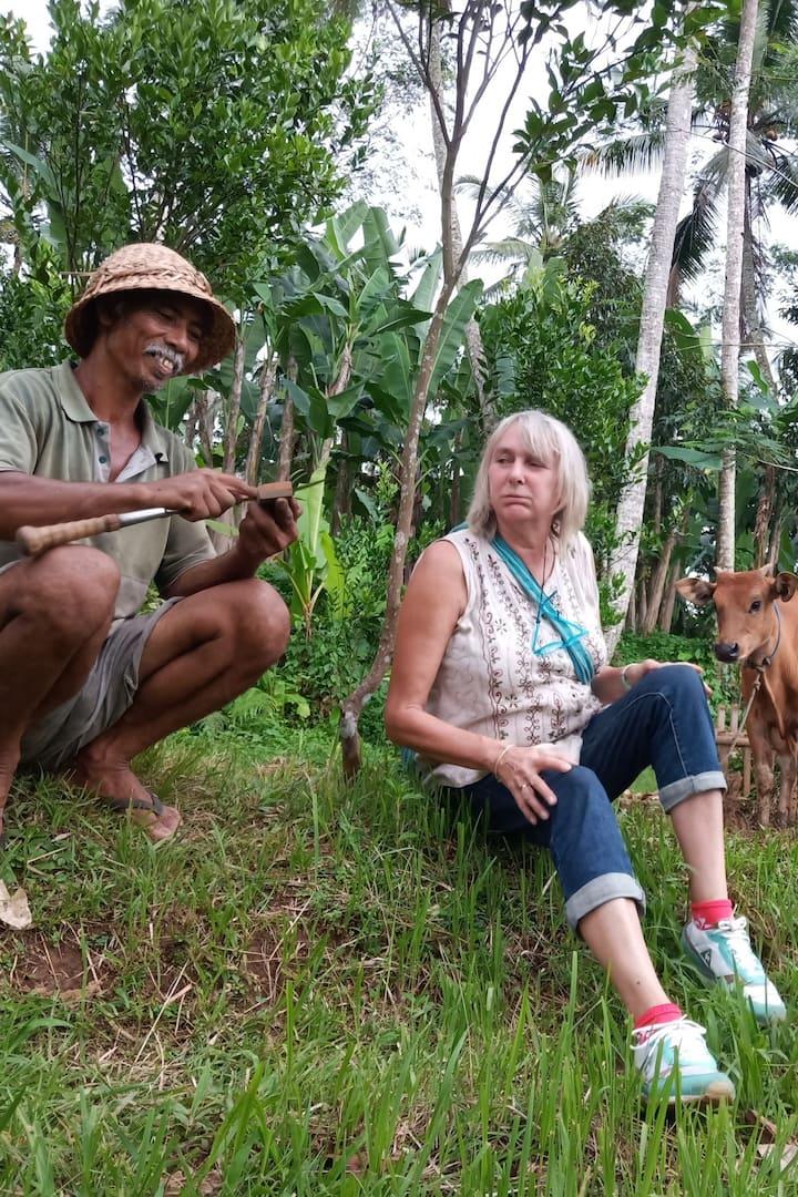 Meeting local farmer