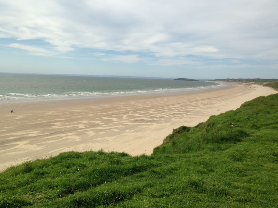 Llangennith Beach - a short stroll from the caravan