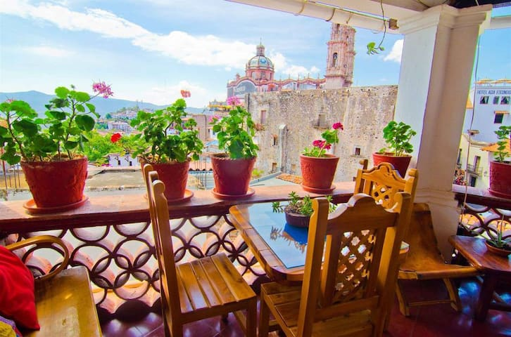 My Room at Mi Casita in Downtown Taxco Mexico