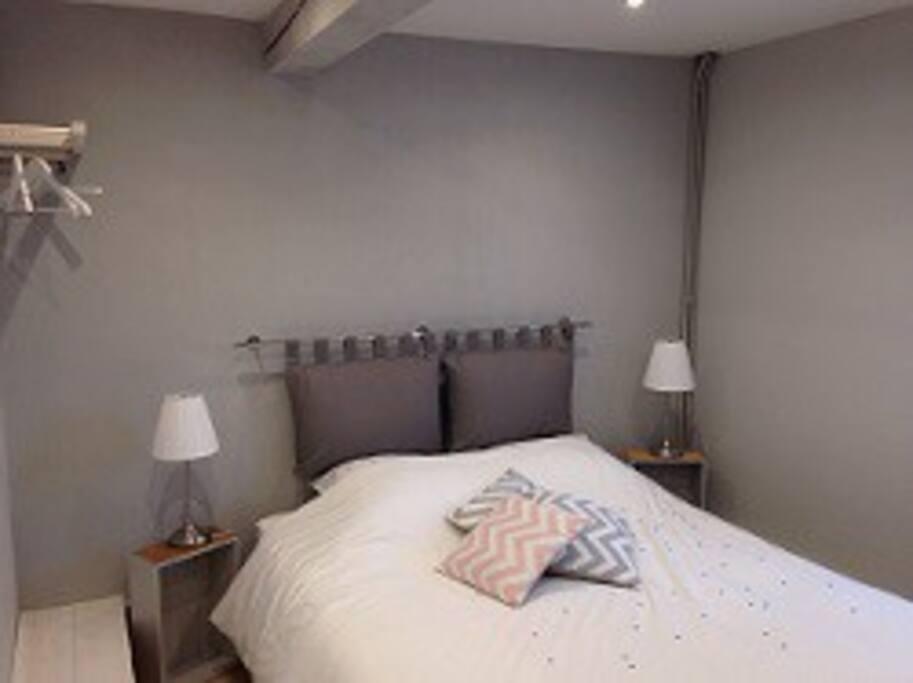 Chambre idéale pour une personne seule ou un couple.