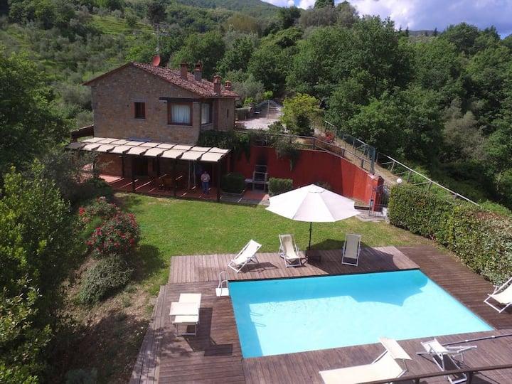 Tuscan villa with swimming pool