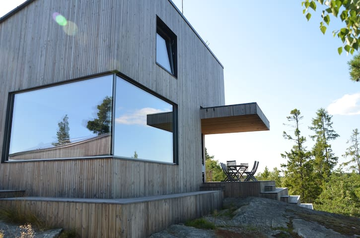 Exclusive architectural house in archipelago