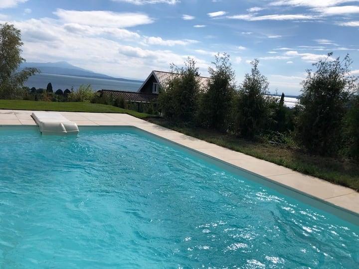 Loft moderne + piscine privée à 200 m de la plage