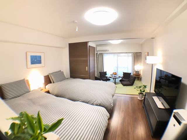 Central Tokyo/Newly furnished/6 train/4 Guest/WiFi