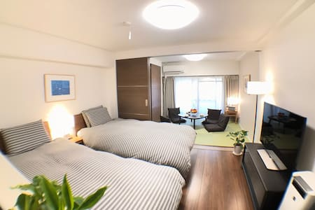 Central Tokyo/Newly furnished/6 train/4 Guest/WiFi - Chiyoda-ku - Apartment