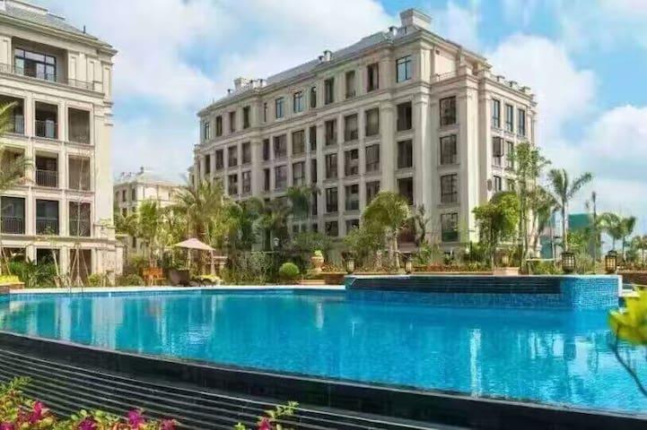 近海临河观山,三亚湾著名低密度花园社区里的全明一居家庭度假公寓 nearby sea - Sanya Shi - Apartemen