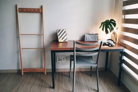 여성전용*1~2인룸)조용하고 안락한 공간, 내집 같은 아파트