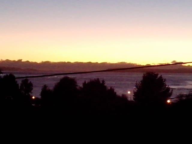 Vista panorámica al amanecer