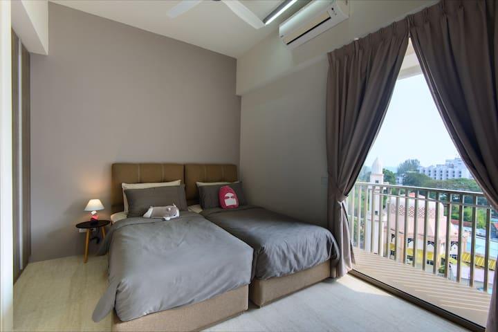 2 standard size Single Bed