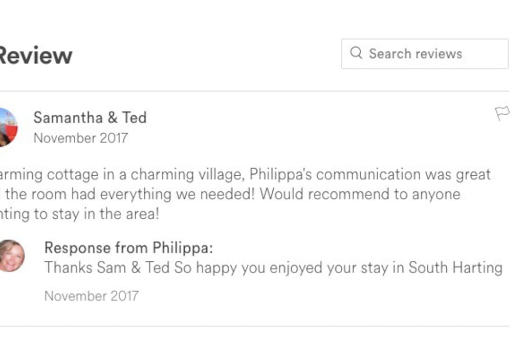 Guest review from the old listed site that I had to cancel...