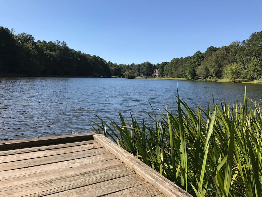 View of Grace Lake from the dock