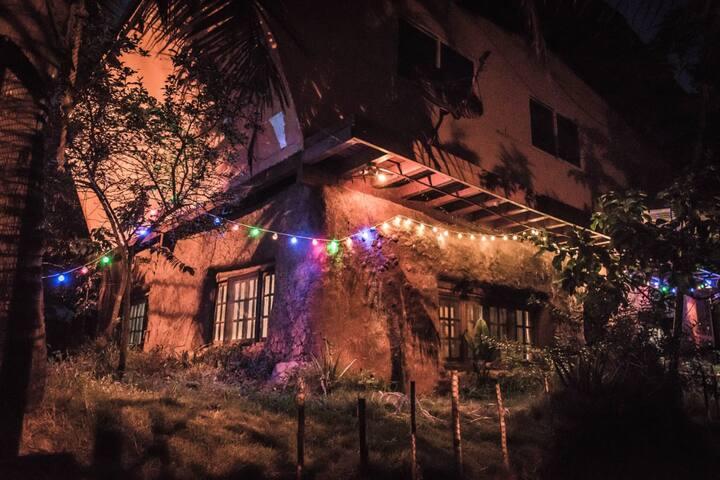 vista nocturna exterior