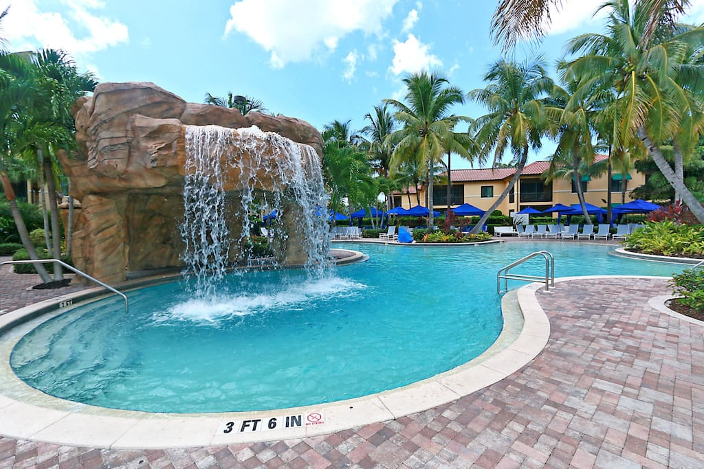 The 4 pools in this complex let you know you are on vacation!!