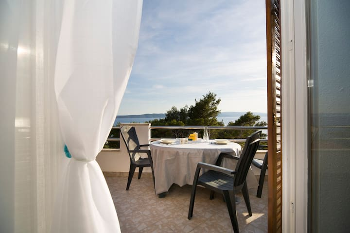 Brela, breathtaking, sea view apartment, 4+1