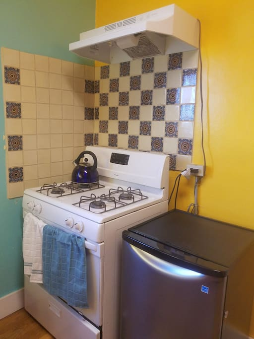 Beautifully Talavera decorated kitchen with all you need