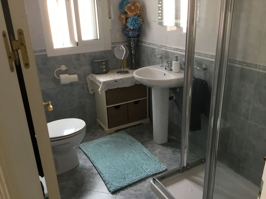 Family bathroom with new shower