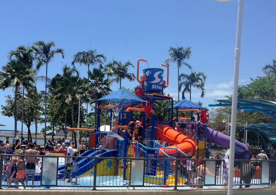 THE 3 MILLION DOLLAR REFURBISHED WATERPARK IS POPULAR WITH THE YOUNG AND NOT SO YOUNG AND IS 30 SECONDS WALK AWAY