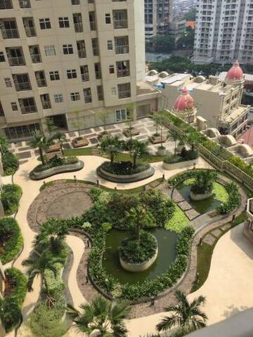 Garden below apartment