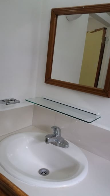 Sink and Mirror.