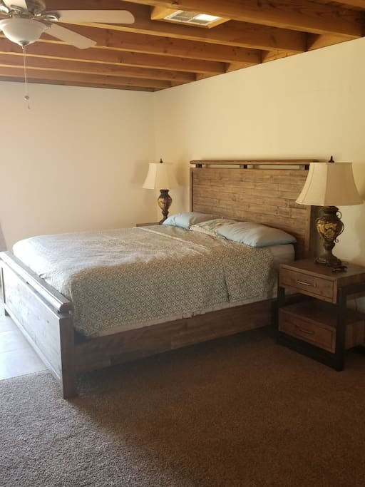 California King size bed in master bed