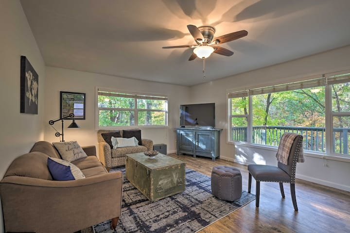 NEW! Serene Hideaway w/ Deck ~ 2 Miles to Trails!