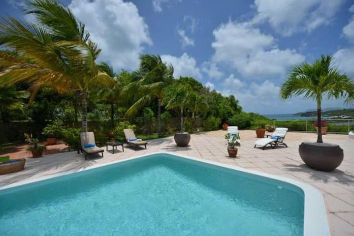 Tropical 4Bdrm Villa In St.Martin - Les Terres Basses - Vila