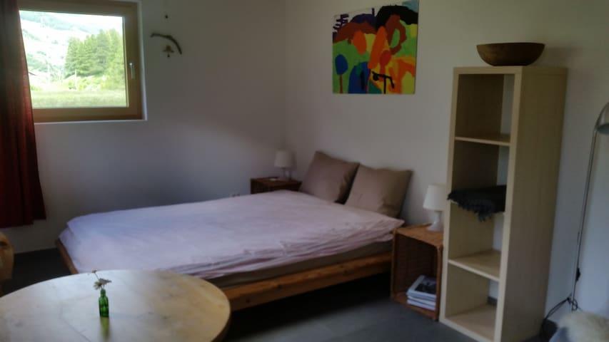 Studio auf Bauernhof im Dorf Lavin - Zernez - Apartment