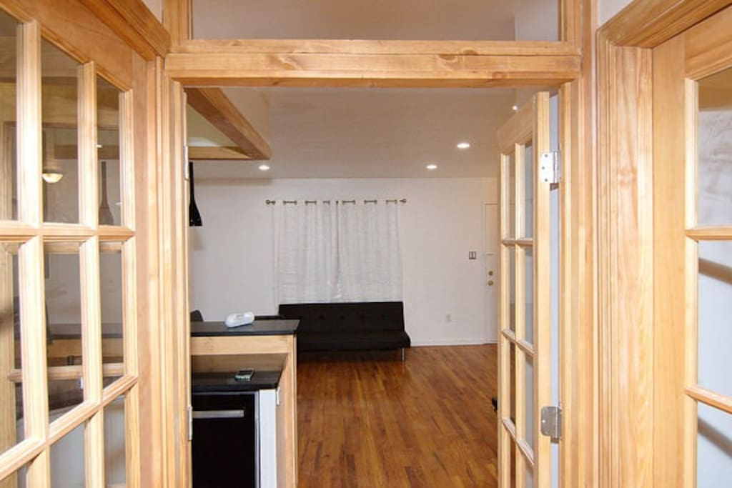 French Doors open to Living Area