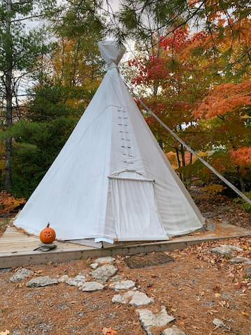 Lewy's Teepee at the Kicking Mule Ranch